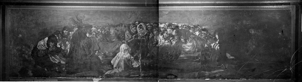 Fotografia de Laurent do quadro El Gran Cabrón Aquelarre de Goya