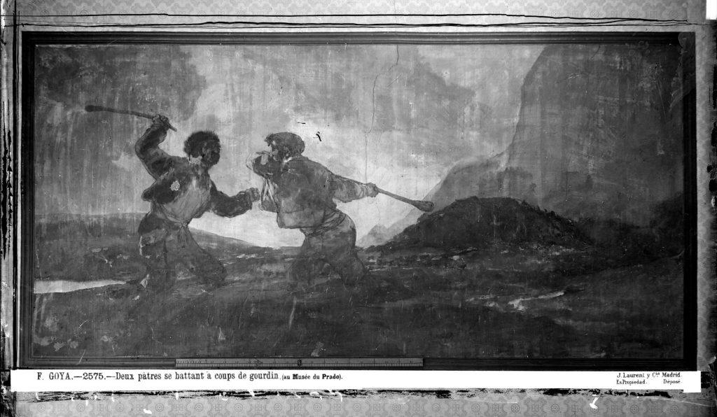 Fotografia de Laurent do quadro Duelo a garrotazos de Goya