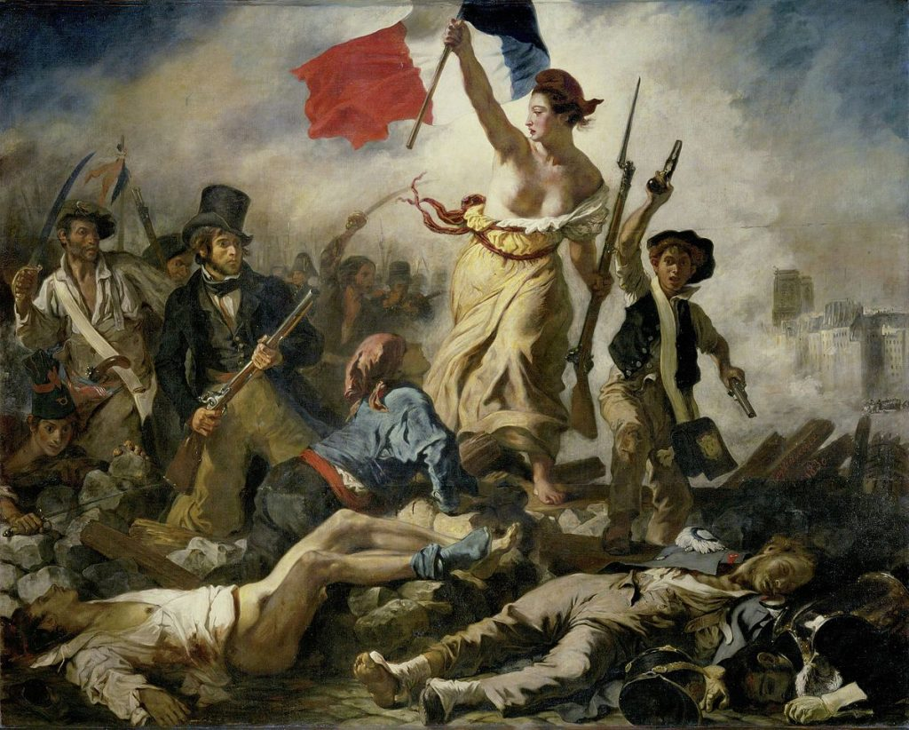 La Liberté guidant le peuple de Eugène Delacroix (1830)