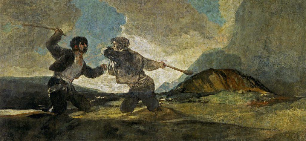 Duelo a garrotazos Goya