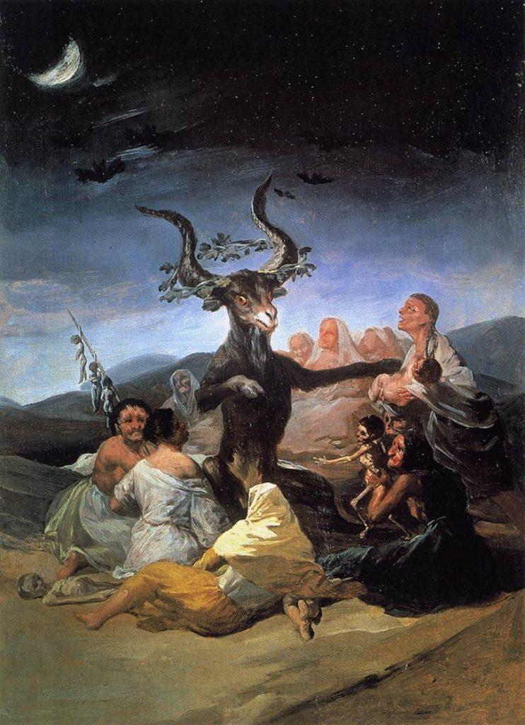 Quadro El aquelarre de Goya, pintado entre 1797 e 1798