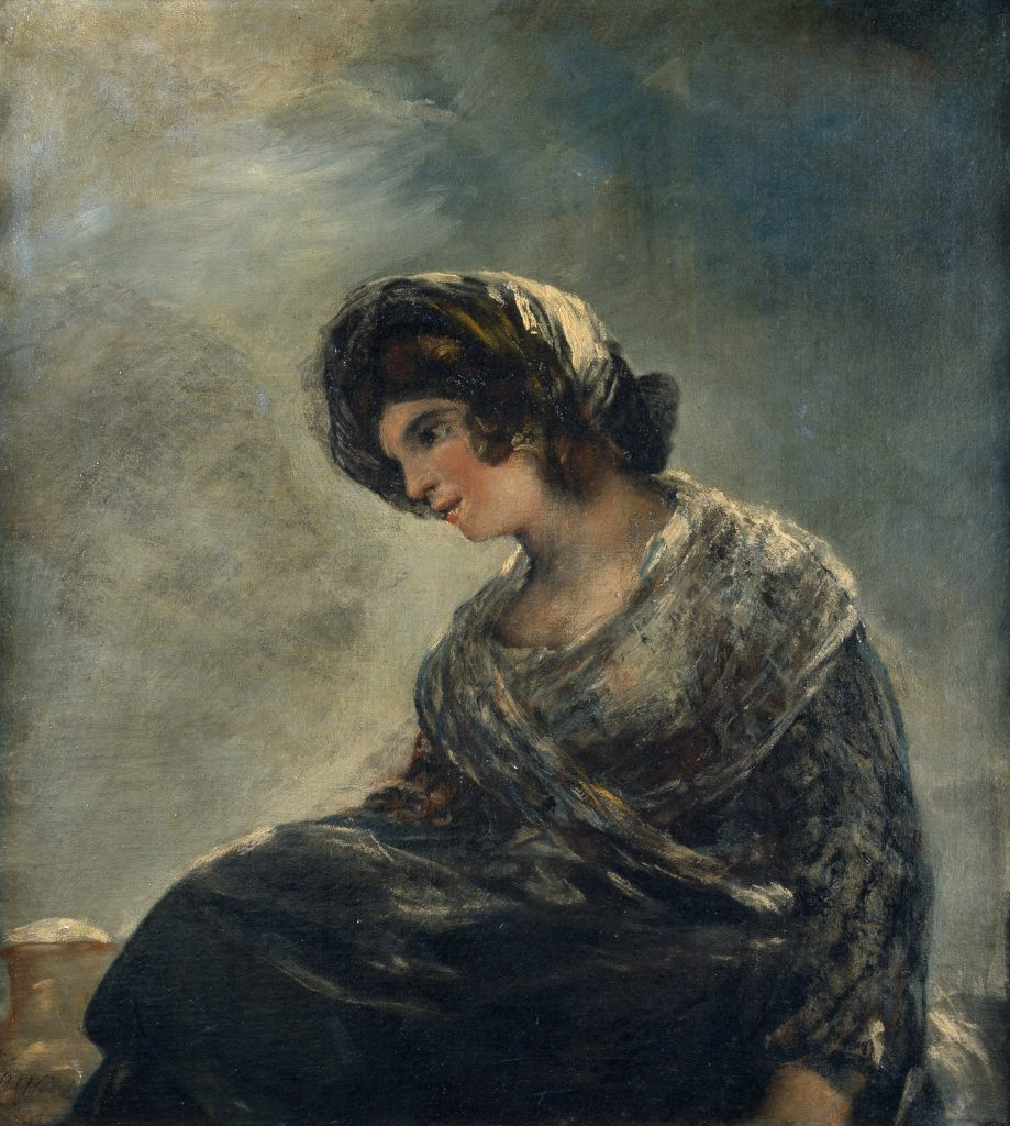 Quadro La lechera de Burdeos de Goya, pintado em 1827 no seu exílio em Bordeaux. Considerado o último quadro do pintor