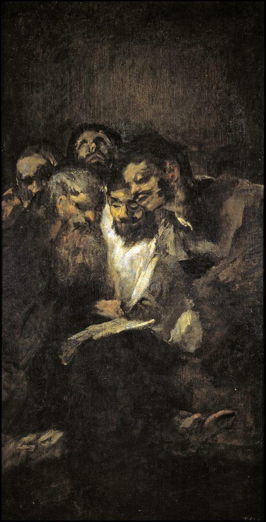 Hombres leyendo La lectura Goya