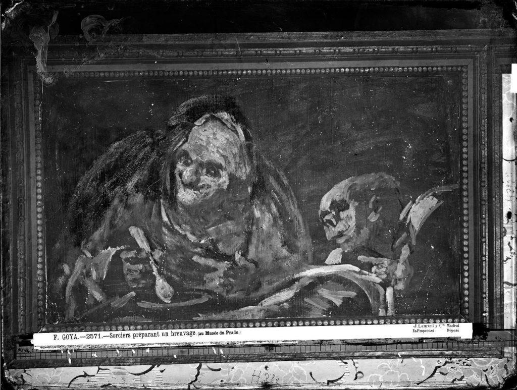 Fotografia de Laurent do quadro Dos viejos comiendo sopa de Goya