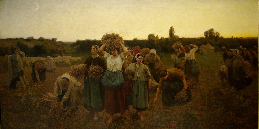 Le Rappel des glaneuses de Jules Breton (1859)