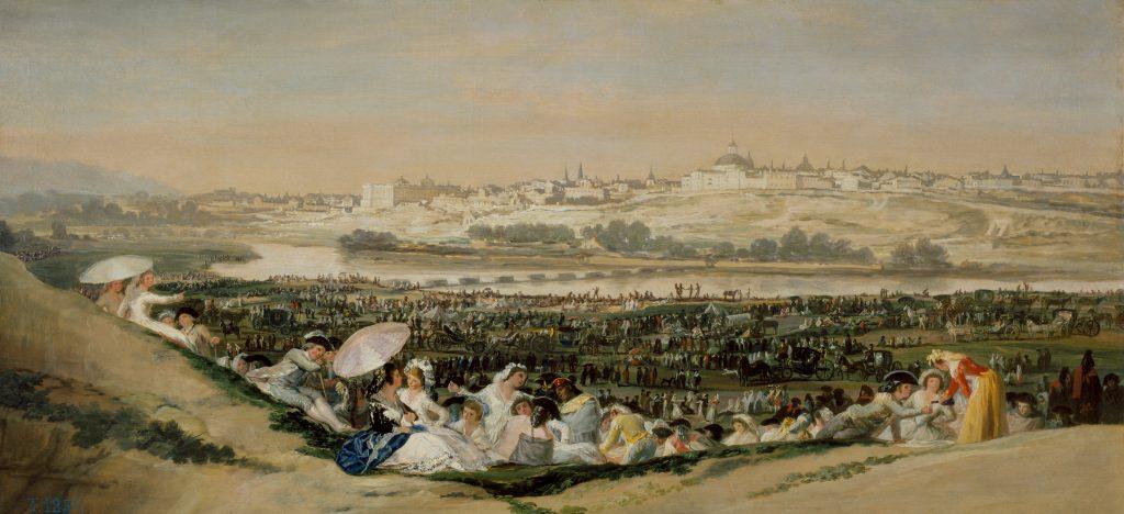 Quadro La pradera de San Isidro de Goya, pintado em 1788