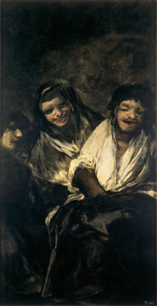 Mujeres riendo Dos mujeres y un hombre Goya