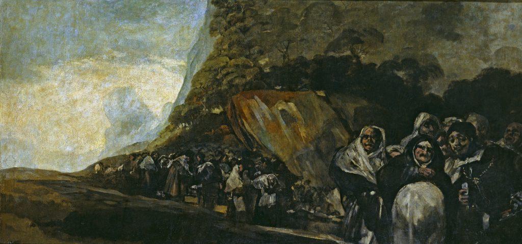 Procesión del Santo Oficio Peregrinación a la fuente de San Isidro Goya