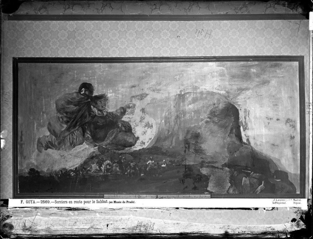 Fotografia de Laurent do quadro Vision fantástica/Asmodea de Goya