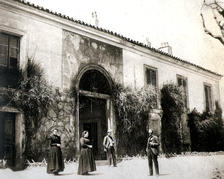 Entrada da Quinta del Sordo em fotografia de 1900