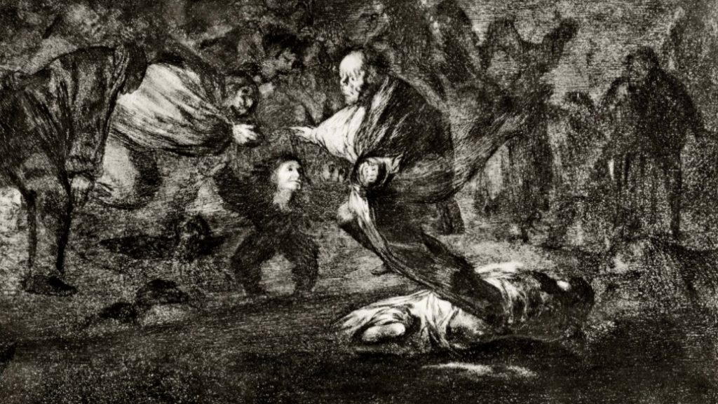 Los disparates, n.º 18, pintado por Goya entre 1819 e 1823