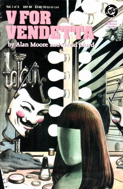 Capa V de Vingança Alan Moore