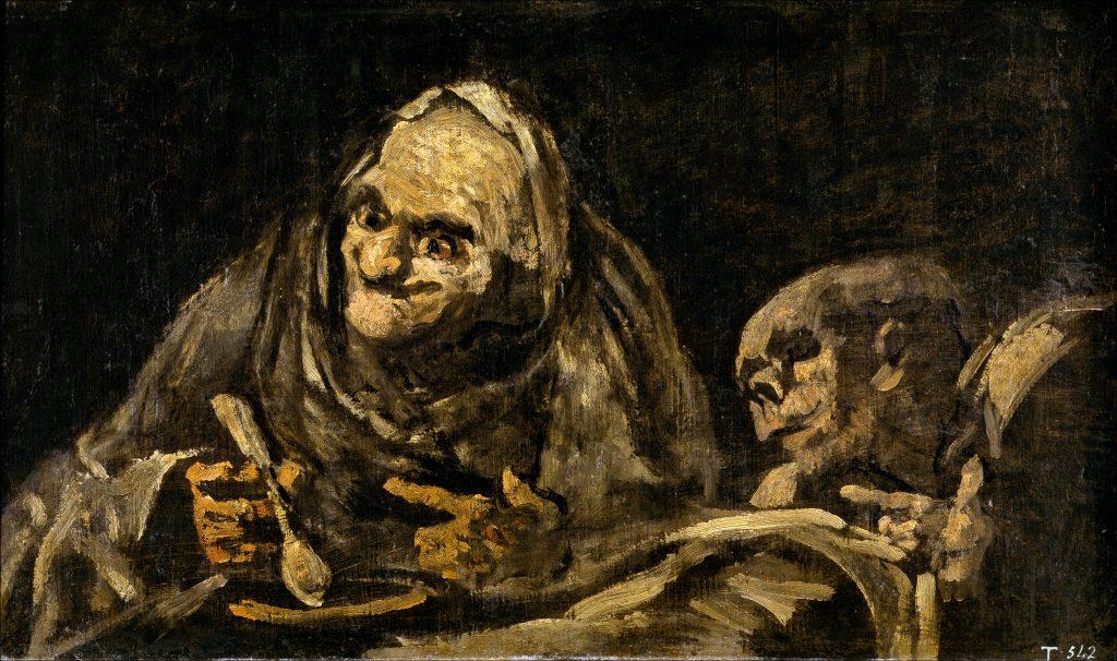 Dos viejos comiendo sopa Goya