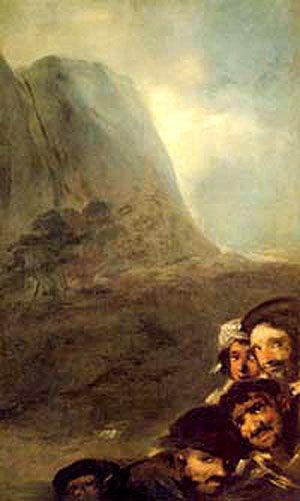 Cabezas en un paisaje Goya