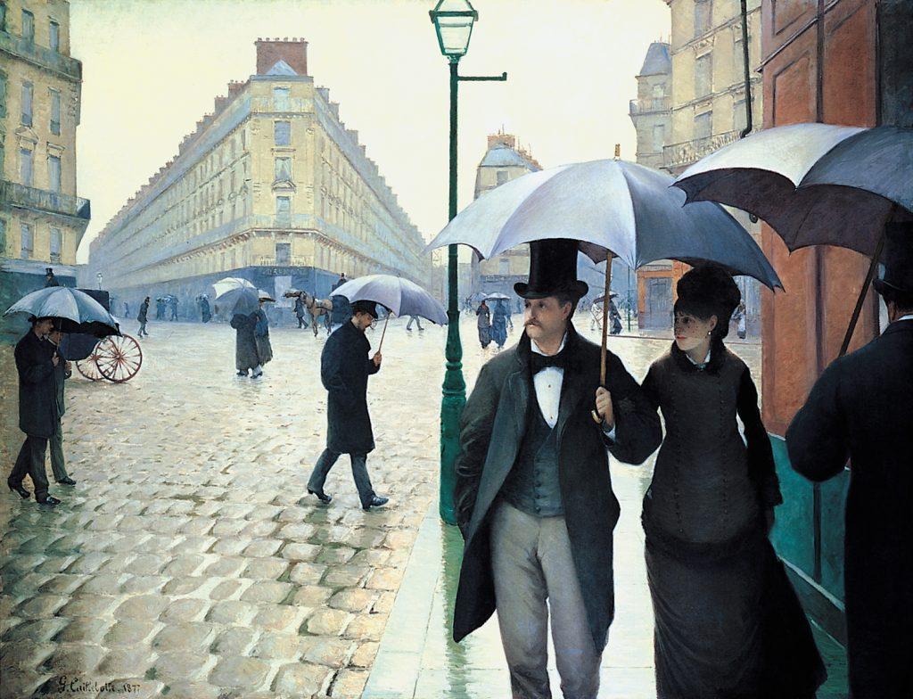 Rue de Paris, temps de pluie de Gustave Caillebotte (1877)