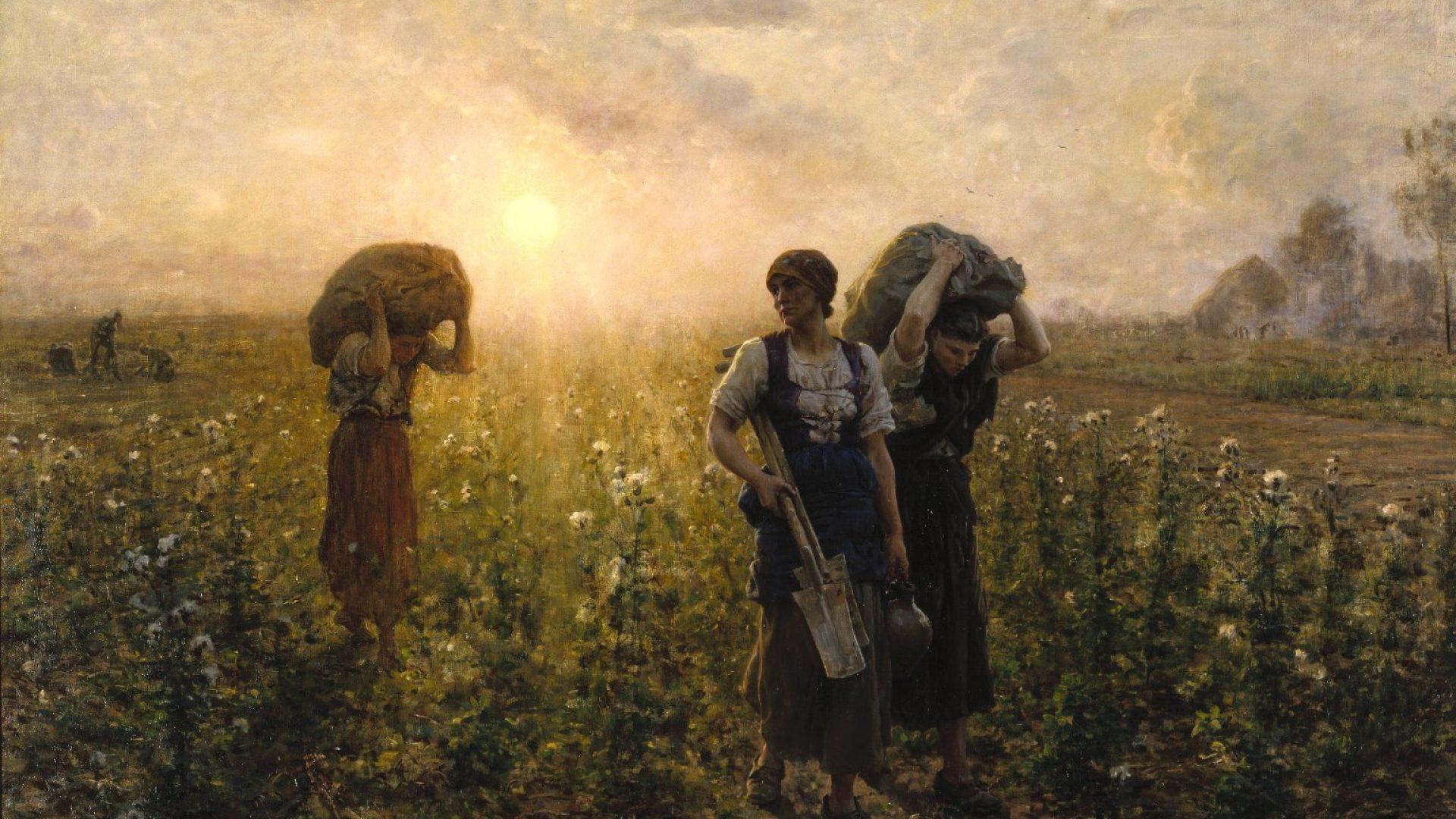 Fin du travail de Jules Breton (1887)